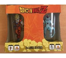 Set de 2 grands verres Dragon Ball Z 500ml Pack DragonBall Z Goku VS Freezer