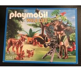 PLAYMOBIL 5561 - Explorateur et famille de lynx