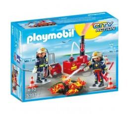 PLAYMOBIL 5397 Pompiers avec matériel d'incendie