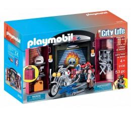 Playmobil 9108 COFFRET DE L'ATELIER DU MOTARD BIKER CHOPPER