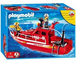 Playmobil 3128 - Très Grand bateau des Pompiers sauveteurs