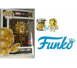 FUNKO POP 353 GUARDIANS OF THE GALAXY STAR LORD CHROMEE EXCLU SPECIAL EDITION